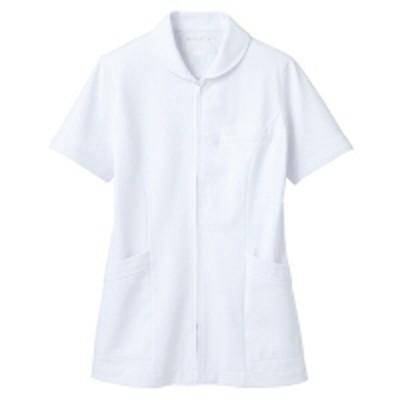 住商モンブラン住商モンブラン ナースジャケット(半袖) 医療白衣 レディス 白 S 73-1522(直送品)