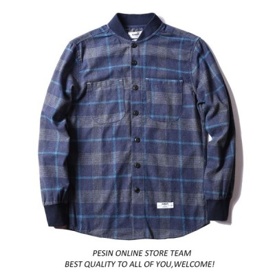 メンズ カジュアルシャツ シャツ 長袖 服 デザイン コットンシャツ 綿 カジュアルシャツ ms019