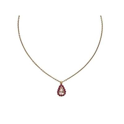 特別価格 Sorrelli レディース 輝く日の出の装飾 ティアドロップペンダントネックレス、ピンク、16