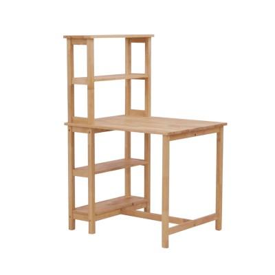 天然木のラック付きダイニングテーブル<2人用>
