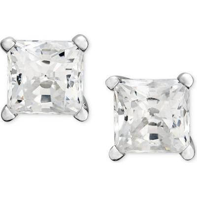メイシーズ Macy's ユニセックス イヤリング・ピアス Princess-Cut Diamond Stud Earrings in 14k White Gold & Yellow Gold (1/2 ct. t.w.)