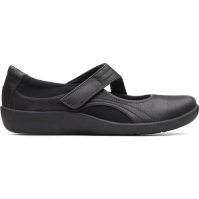 クラークス Clarks レディース スリッポン・フラット シューズ・靴 'S Casual Sillian Bella Black Textile Shoes