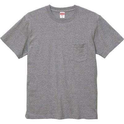 UnitedAthle ユナイテッドアスレ 5.6オンス ハイクオリティー Tシャツ(ポケット付) 500601 ミックスグレー