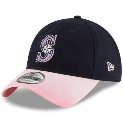 レディース スポーツリーグ メジャーリーグ Seattle Mariners New Era Women's Mother's Day Team Glisten 9TWENTY Adjustable Hat - Navy/