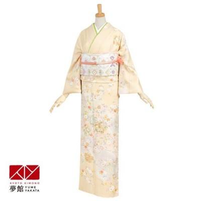 袷 訪問着 レンタル 「H150 クリーム 吉祥桜」対応身長 155〜159cm ホテル・式場への配送OK!