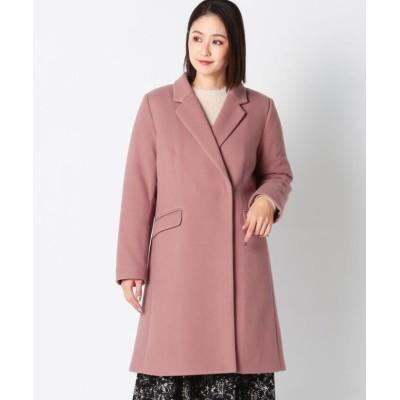 【ミューズ リファインド クローズ】 パテッドウールライクチェスターコート レディース モカ L MEW'S REFINED CLOTHES