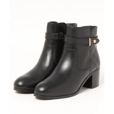 BETTY CLUB / ストラップ付き かかとキルティングレザーブーツ WOMEN シューズ > ブーツ