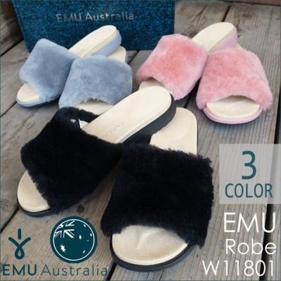 emu エミュー Robe ローブ サンダル シープスキン スリッパ ファー Sheepskin Slippers W11801 日本正規品
