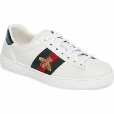 グッチ GUCCI メンズ スニーカー シューズ・靴 New Ace Sneaker Bianco Multi Leather