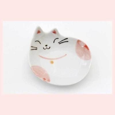 ミケネコ 豆皿(紅) 47876