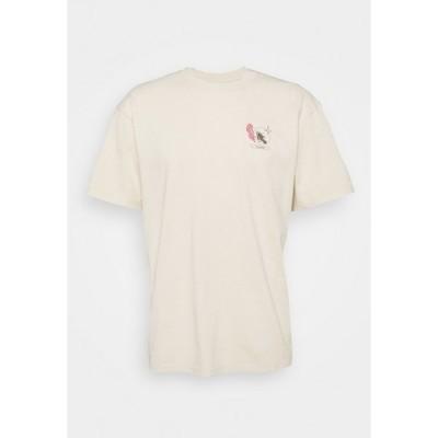 エドウィン Tシャツ メンズ トップス TAROT DECK UNISEX - Print T-shirt - pelican