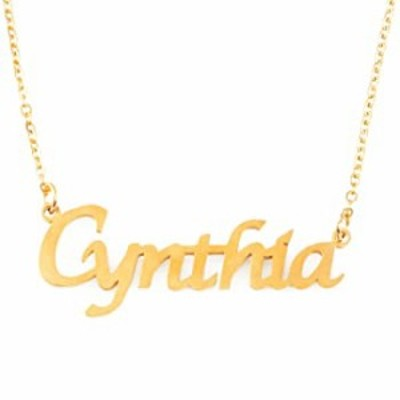Cynthia Name Necklace 18ct Gold Plated Personalized Dainty Necklace - Jewelry Gift Women, Girlfriend, Mother, Sister, Friend, Gi