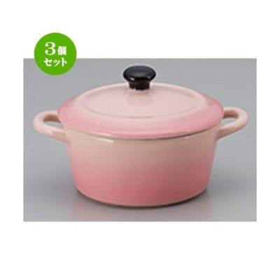 3個セット オーブン食器 洋食器 / ミニ丸ココットPK 寸法:10.5 x 7.8 x 6.2cm