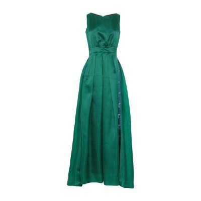 ULTRA'CHIC ロングワンピース&ドレス グリーン 40 レーヨン 55% / シルク 45% / ポリエステル / コットン / 金属化ポリ