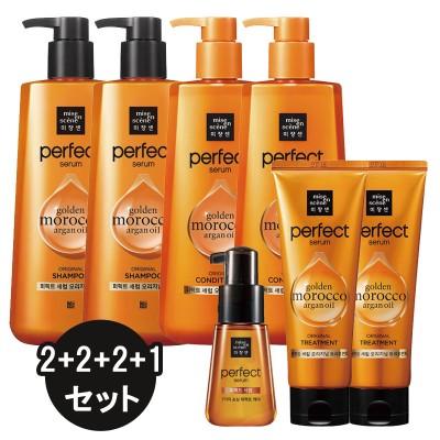 [Miseenscene] ミジャンセン パーフェクトセラム セット Perfect serum Shampoo2+Rinse2+Treatment2+Serum1