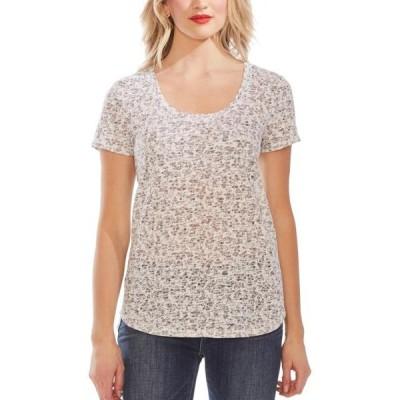 レディース 衣類 トップス Vince Camuto Womens Floral Print Burnout T-Shirt Tシャツ