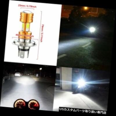 バイク ヘッドライト 1個H4 COB LEDオートバイヘッドライトハイロービームライト3500lmホワイト30W  1Pcs H4 COB LED Motorcycle Headli