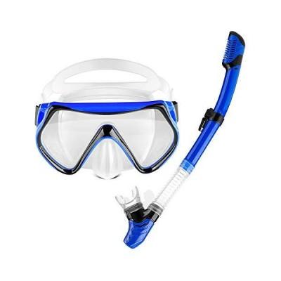 OMYAFL Snorkel Set,Snorkel Scuba Dive Mask Anti-Leak Panoramic Wide View,Dr