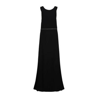 RUBENDELLARICCIA ロングワンピース&ドレス ブラック 44 アセテート 60% / レーヨン 40% ロングワンピース&ドレス