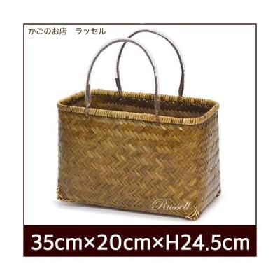 竹市場かご 一貫張り 一閑張り 材料   竹かご かごバッグ  手提げ  かごのお店ラッセル 456