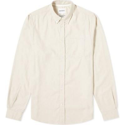 ノースプロジェクト Norse Projects メンズ シャツ フランネルシャツ トップス anton brushed flannel shirt Oatmeal