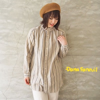ダナファヌル DANA FANEUIL シャツ レディース カラーシャツ ワンピース D-6321207 長袖 シャツ
