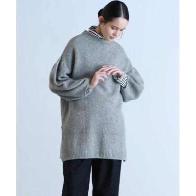(Pao de lo/パオデロ)【WEBサイズ別注】ボリューム袖ブークレチュニック/レディース ライトグレー