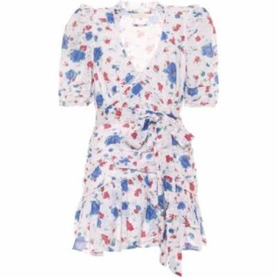ラブシャックファンシー LoveShackFancy レディース ワンピース ワンピース・ドレス Arlo Floral Cotton Minidress Blue Notte