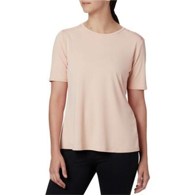 コロンビア Columbia レディース Tシャツ トップス Chill River Short Sleeve Shirt Peach Cloud/Peach Cloud Print