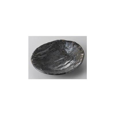 小皿 楕円皿 風紋黒小判皿 13.5cm 和食器 業務用 美濃焼 9a255-19-25g