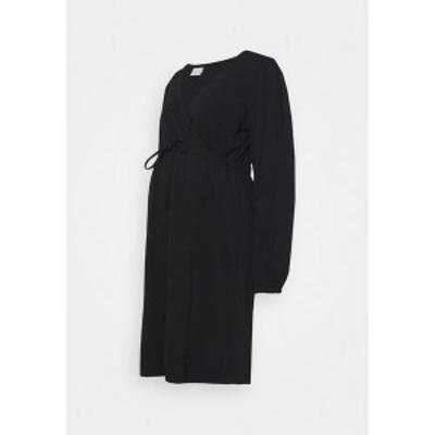 ママリシャス レディース ワンピース トップス MLPICAS TESS SHORT DRESS - Jersey dress - black black