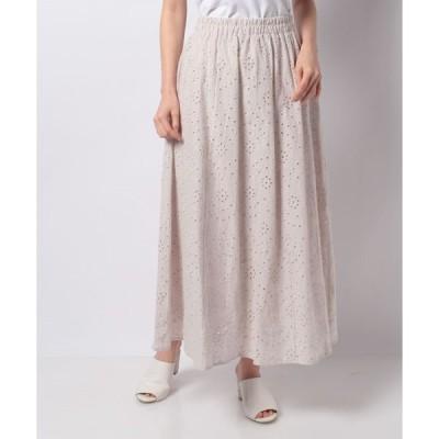 【テチチ】【Lugnoncure】カットワークレースギャザースカート