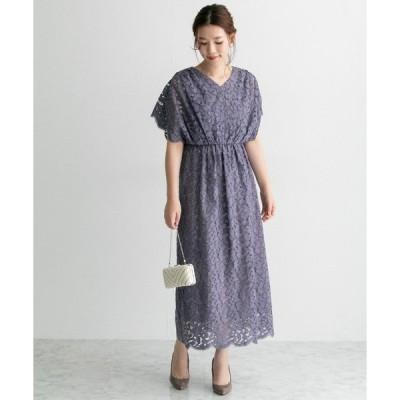 ドレス Chaco×ROSSO ラッセルレースドレス
