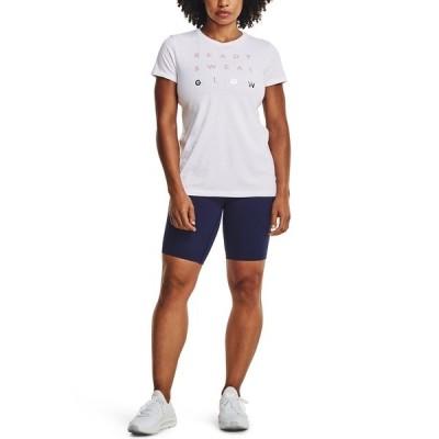 アンダーアーマー カットソー トップス レディース Women's Glow Logo T-Shirt White