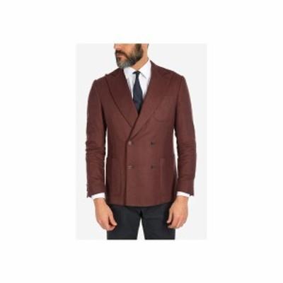 CORNELIANI/コルネリアーニ Burgundy メンズ silk and cashmere ACADEMY double-breasted blazer dk