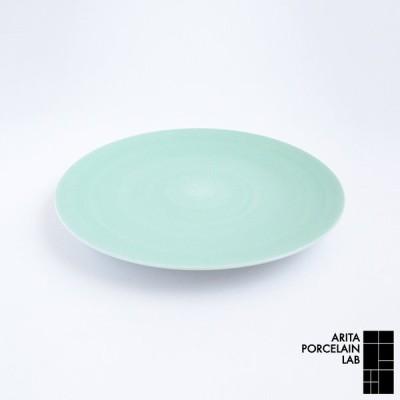 和食器 大皿 JAPAN TEA フラットプレート (大) パールグリーン 和モダン ブランド 食器 食器ギフト パスタ皿 有田焼 アリタポーセリンラボ