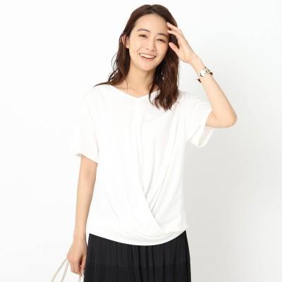 アンタイトル UNTITLED 【洗える】裾ツイストTシャツ (オフホワイト)