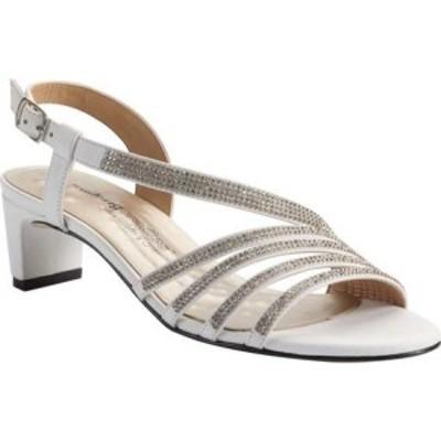 ウォーキング クレードル Walking Cradles レディース サンダル・ミュール シューズ・靴 Lettie-2 Slingback Heel White Cashmere/Crysta