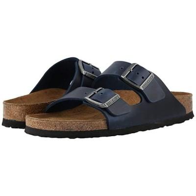 ビルケンシュトック Arizona Soft Footbed - Leather (Unisex) メンズ サンダル Blue Oiled Leather