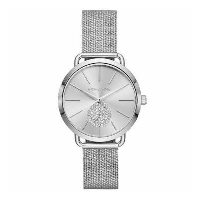 MICHAEL KORS マイケルコース MK3843 Portia Stainless-Steel シルバートーン クリスタル レディース ウォッチ 腕時計 mk3843