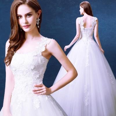 ウエディングドレス 二次会 ウェディングドレス 結婚式 安い プリンセスライン エンパイア 花嫁 ドレス 披露宴 ロングドレス ブライダル シンプルドレス レース