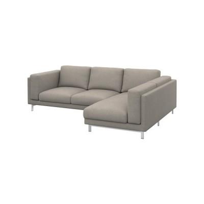 IKEA/イケア NOCKEBY カバー 2人掛けソファ&寝椅子用, 右, テーノー ライトグレー (702.804.03)