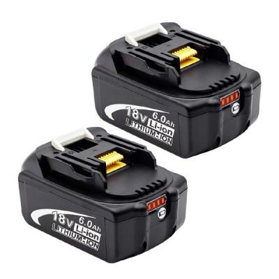 マキタ バッテリー BL1860B 18V 6.0Ah 互換 2個セット 保証付き BL1820B BL1830B BL1860B BL1850B TD171 TD172 対応