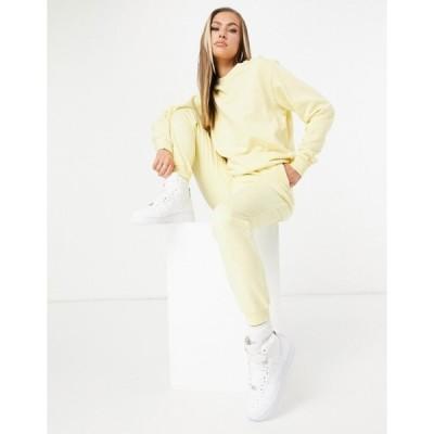 エイソス レディース パーカー・スウェット アウター ASOS DESIGN tracksuit ultimate sweatshirt / sweatpants with tie in organic cotton in yellow