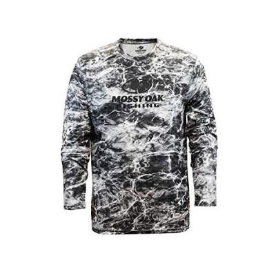 Staghorn メンズ 長袖 パフォーマンス テック フィッシング Tシャツ Mossy Oak Elements アクアマンタ M
