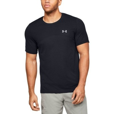 アンダーアーマー Tシャツ トップス メンズ Under Armour Men's Seamless Short Sleeve T-Shirt Black/ModGray