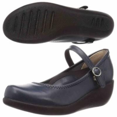 リゲッタ レディースファッション パンプス  リゲッタレディース ワンベルトウェッジパンプス ネイビー R-19001-NVY