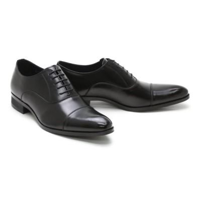 ビジネスシューズ 本革 ストレートチップ キャップトゥ メンズ 革靴 本革 クインクラシコ ドレスシューズ qc3100-abk ブラック(黒) キャップトゥ