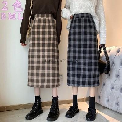 あったかスカートミニスカート チェック柄 スカート レディース スウェットスカート 可愛い