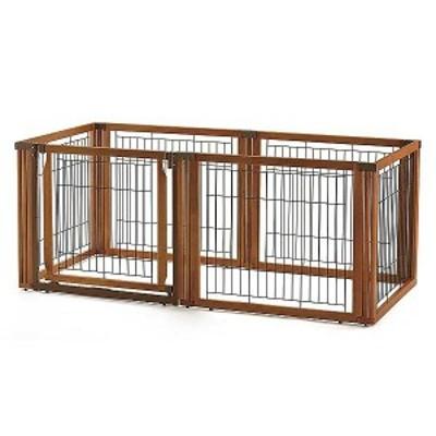 リッチェル ペット用 木製 3WAYサークル 6面 70H 送料無料 犬 ドッグ ケージ ハウス ゲージ 室内